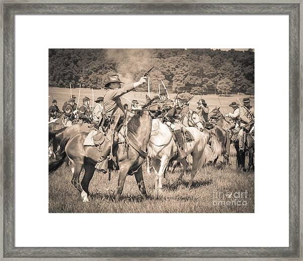 Gettysburg  Union Cavalry 7920s  Framed Print