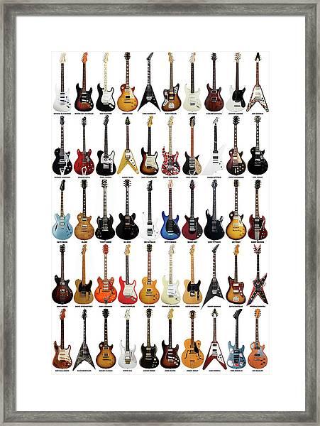 Guitar Legends Framed Print