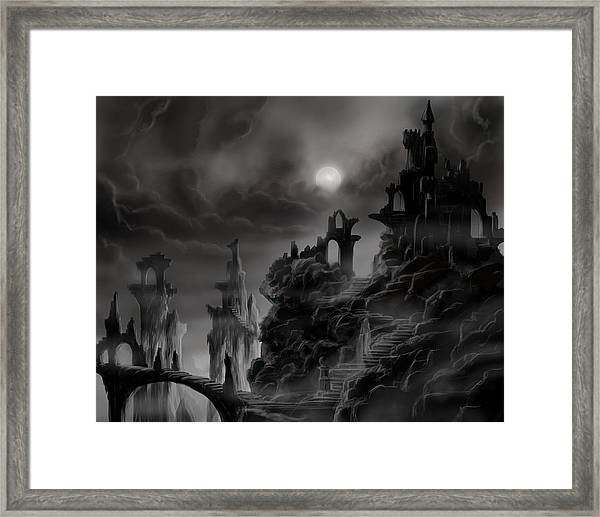 Ghost Castle Framed Print