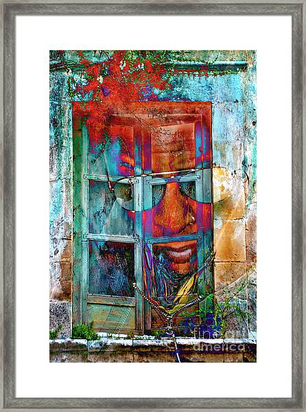 Ghost Goes Through Wall Framed Print