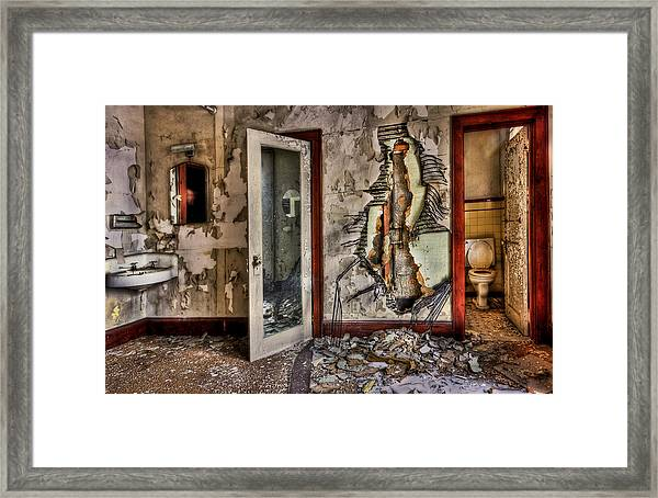 Ghost Of Time Framed Print