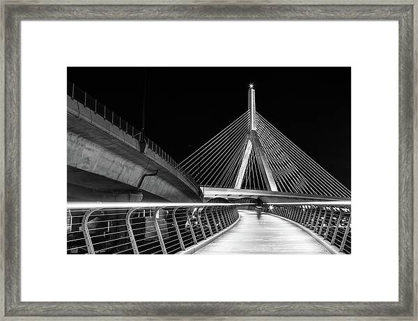 Ghost Rider At Zakim Bridge Framed Print