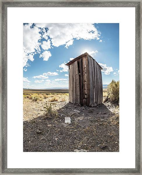 Ghost Town Outhouse Framed Print