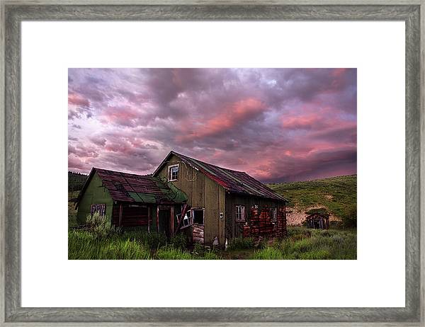 Ghost Town Sunset 1 Framed Print