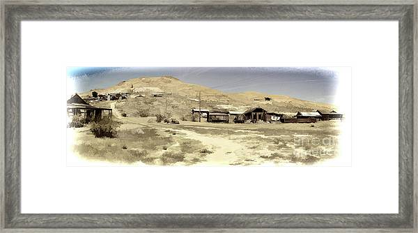 Ghost Town Textured Framed Print