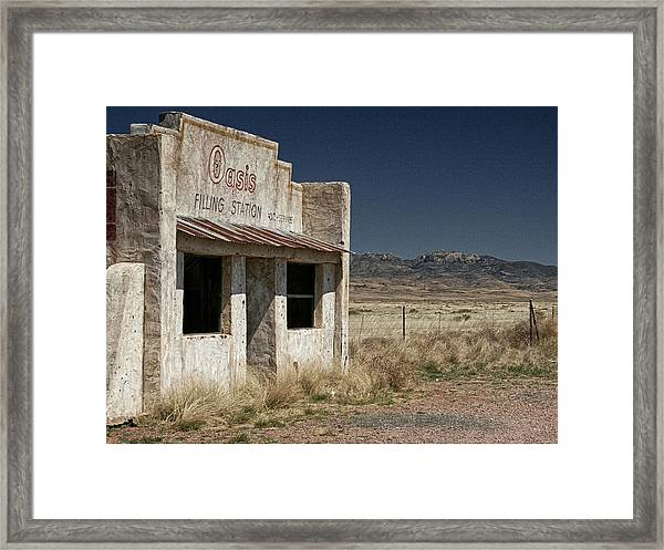 Ghost Way Station Oasis Framed Print