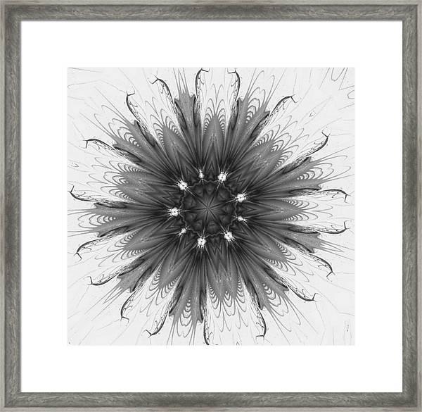 Ghostly Glow Fractal Framed Print