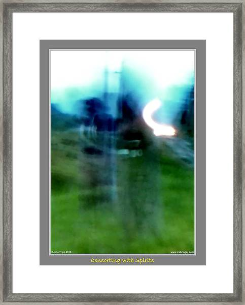 Ghosts By The Tracks  Framed Print by Jane Tripp