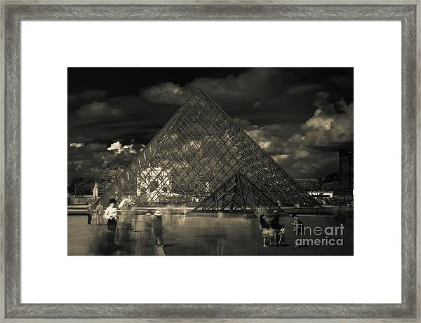 Ghosts Of The Louvre Framed Print