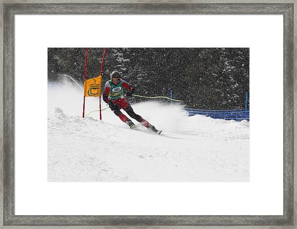 Giant Slalom Racing Framed Print