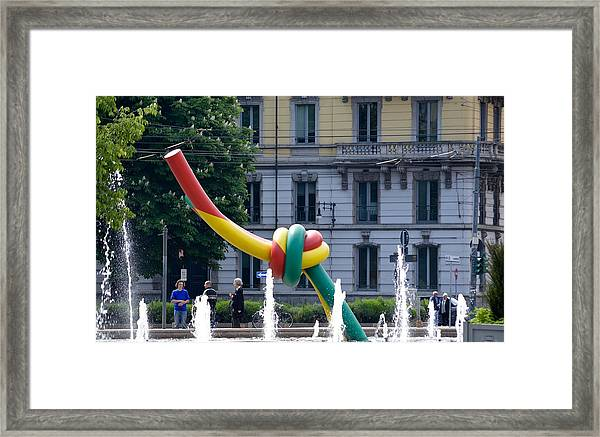 Giant Thread In Milan Framed Print