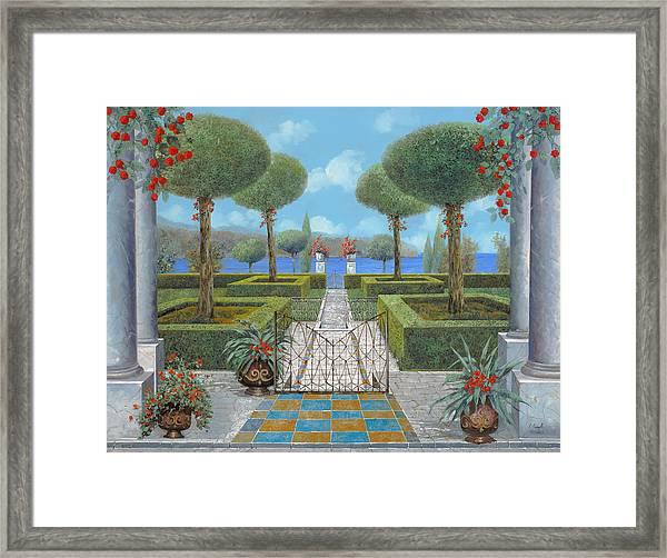 Giardino Italiano Framed Print