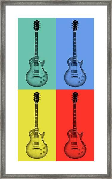 Gibson Guitar Pop Art Framed Print
