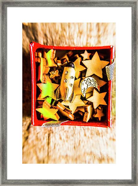 Gift Boxes And Astronomy Toys Framed Print