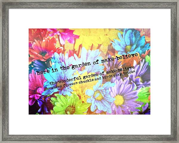 Giggle Patch Quote Framed Print by JAMART Photography
