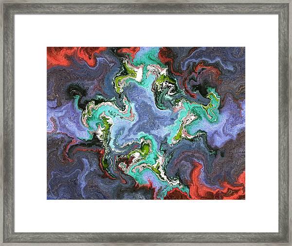 Gilemius V1 - Digital Abstract Framed Print