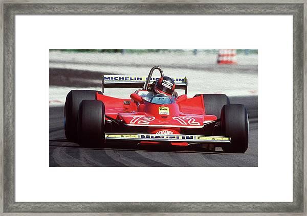 Gilles Villeneuve, Ferrari Legend - 01 Framed Print