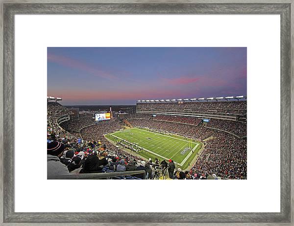 Gillette Stadium In Foxboro  Framed Print