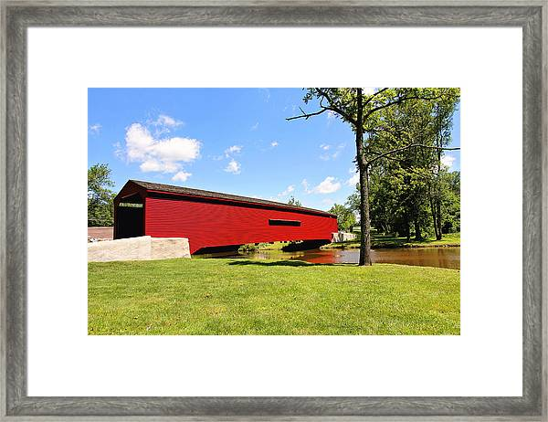 Gilpin's Falls Covered Bridge Framed Print