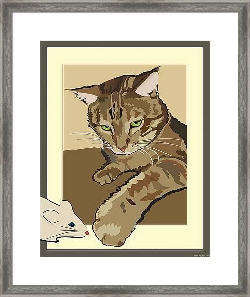 Ginger Peach Bengal Kitty Framed Print