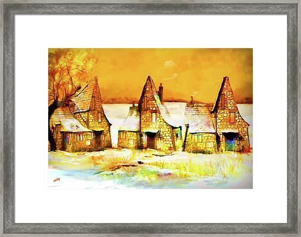 Gingerbread Cottages Framed Print