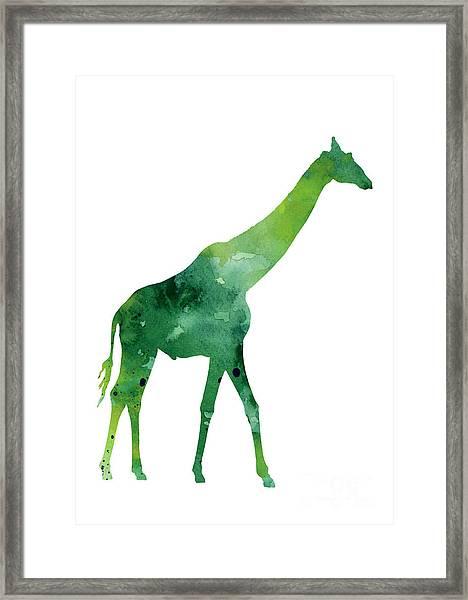 Giraffe African Animals Gift Idea Framed Print