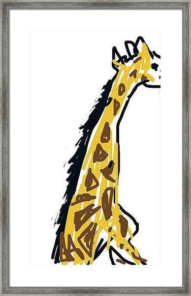 Giraffe Sketch  Framed Print