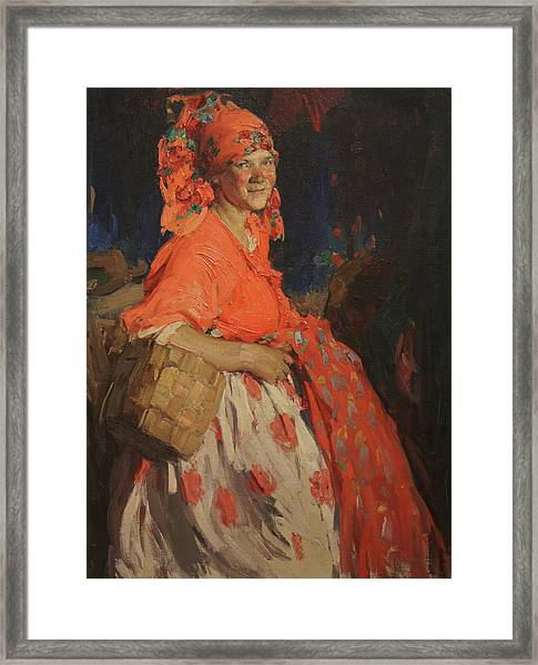 Girl Framed Print by Abram Arkhipov