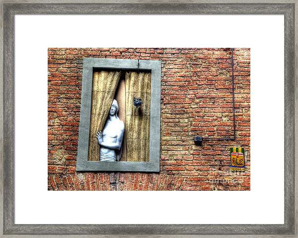 Girl At The Window Framed Print by Clint Hudson