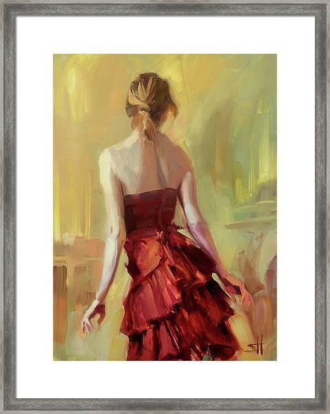 Girl In A Copper Dress I Framed Print
