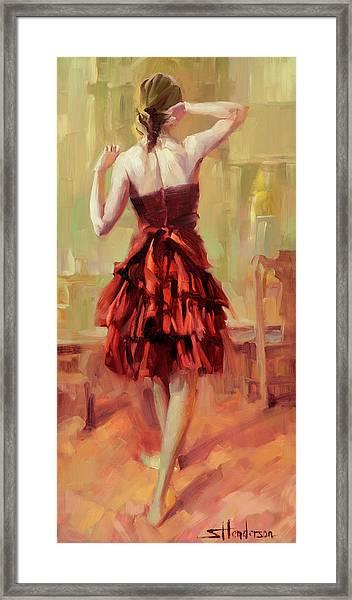 Girl In A Copper Dress IIi Framed Print