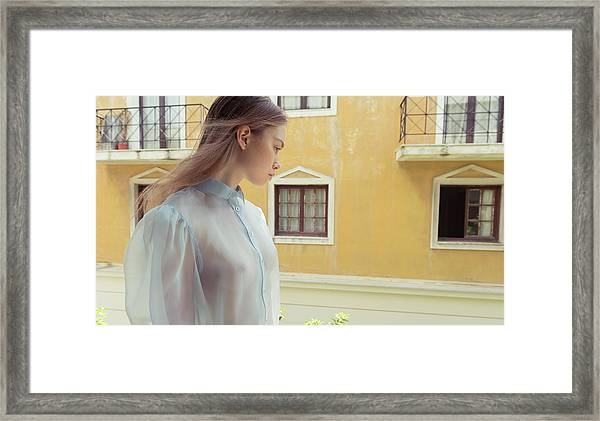 Girl In Profile Framed Print
