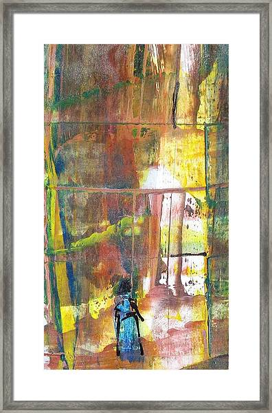 Girl In The Forest Framed Print by Thomas Armstrong