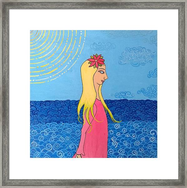 Girl In The Water Framed Print