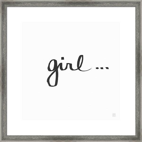 Girl Talk- Art By Linda Woods Framed Print