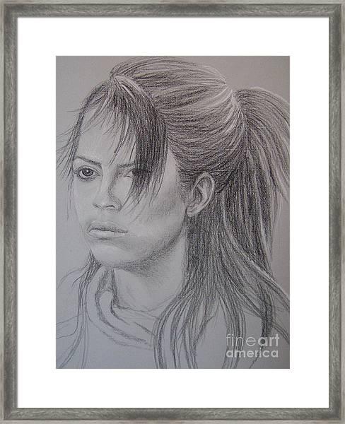 Girl With Attitude Framed Print