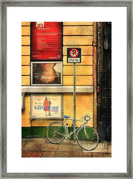 Girlfriend Bicycle Framed Print