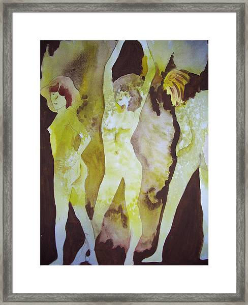 Girls At Play Framed Print