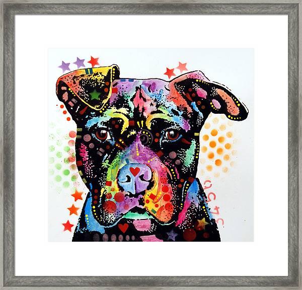 Give Love Pitbull Framed Print