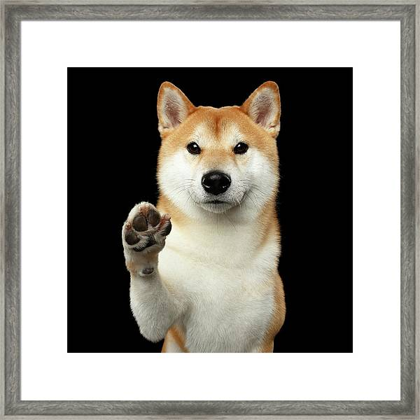 Give Me A Hand Man Framed Print