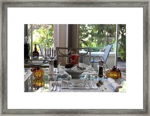 Giving Thanks In California Thanksgiving Table Framed Print