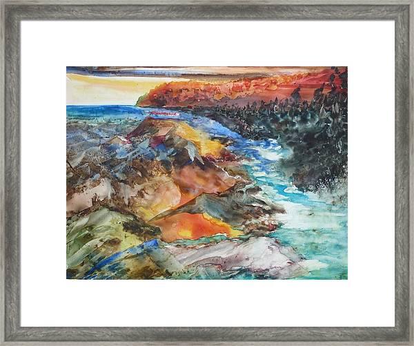 Glacial Meltdown Framed Print