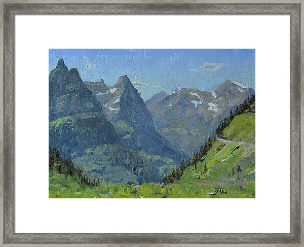 Glacier Afternoon Framed Print