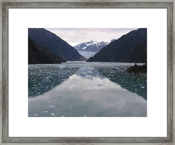 Glacier Blues Framed Print