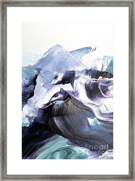 Glacier Mountains Framed Print