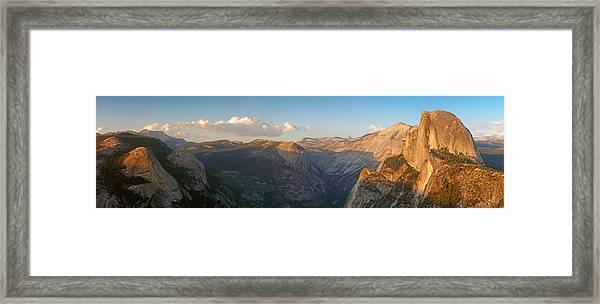 Glacier Point Panorama Framed Print