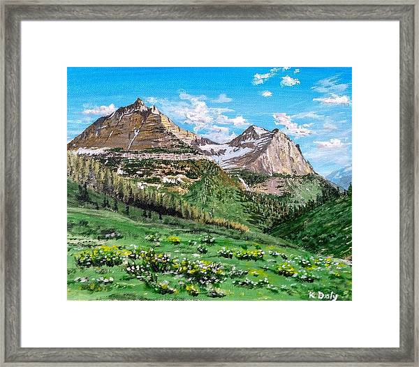 Framed Print featuring the painting Glacier Summer by Kevin Daly