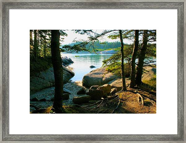Glade To The Side Of Sand Beach Framed Print