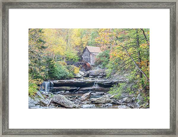 Glade Creek Grist Mill In Autumn Framed Print