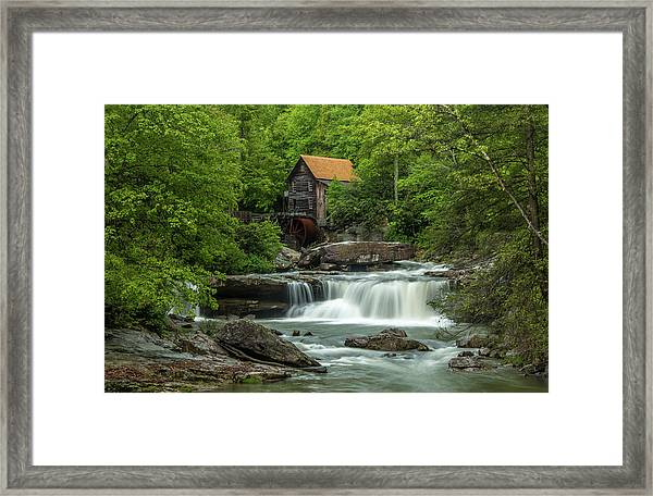 Glade Creek Grist Mill In May Framed Print